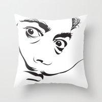 salvador dali Throw Pillows featuring Salvador Dali by SUBgenre