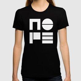 Nope typogaphy T-shirt