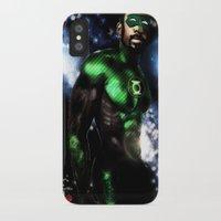 john green iPhone & iPod Cases featuring John Stewart : The Green Lantern by André Joseph Martin