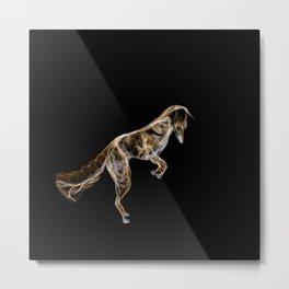 Jumping Red Fox Metal Print