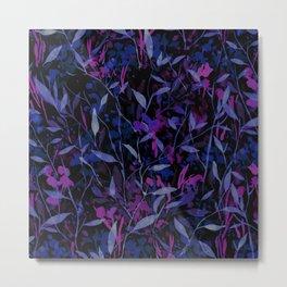 Wandering Wildflowers Midnight Metal Print