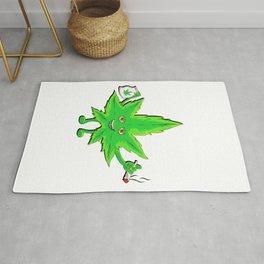 Funny Marijuana Leaf for 420 Weed Smokers Rug
