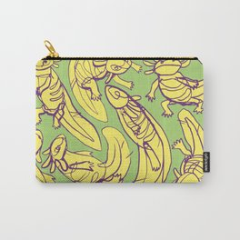 Scribbled Axolotls in Color Carry-All Pouch