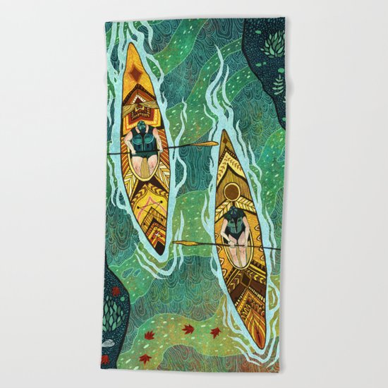 Kayaking Beach Towel