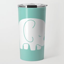 Mod Baby Elephant Teal Travel Mug