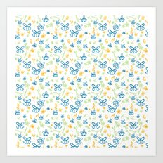 Busy Bees Art Print