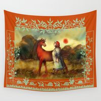unicorn Wall Tapestries featuring Unicorn by Iris V.