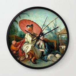 Chinese Fishing - Francois Boucher Wall Clock