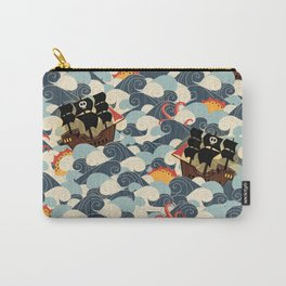 Pirates on stormy seas Carry-All Pouch
