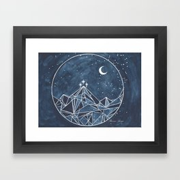 Night Court moon and stars Framed Art Print