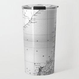 Vintage Map of Japan (1892) BW Travel Mug