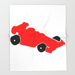 Fast Red Supercar Icon Throw Blanket
