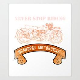 Motorcycle Grandpas  Vintage Design Motors Art Print