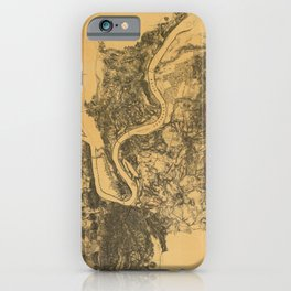 Map of Civil War Battlefield of Chattanooga (1875) iPhone Case