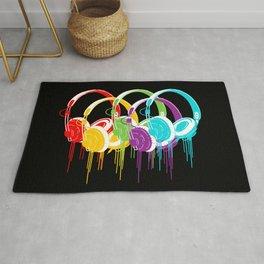 Colorful Headphones Rug