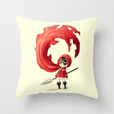 Red Cape Throw Pillow