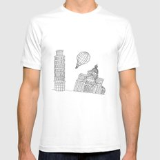 Point of view... MEDIUM White Mens Fitted Tee