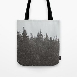 Wintery Forest Tote Bag