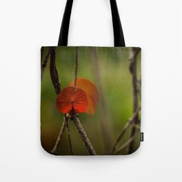 Round Leaf Tote Bag