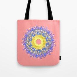 Mandala #105, Peach and Sunshine Tote Bag