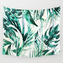 Green Tropical paradise  Wall Tapestry