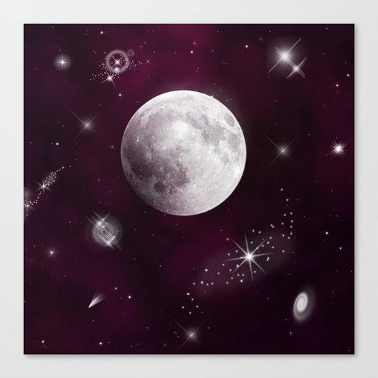 Night Sky in Purple Canvas Print