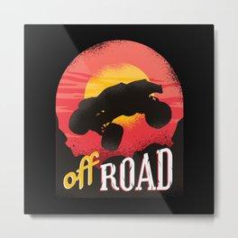 Off Road Car Monster Truck Metal Print