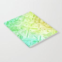 Bright Gradient (Violet Purple Lime Green Neon Yellow) Geometric Pattern Print Notebook