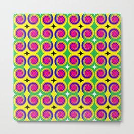 Swirly Pattern 1 Metal Print