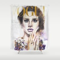 lana Shower Curtains featuring Lana by Kim Maria Morrow