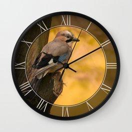 Jay bird in the park Wall Clock