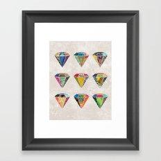 Diamonds Collage Framed Art Print