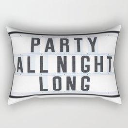 Party all Night long Rectangular Pillow