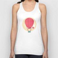sun and moon Tank Tops featuring Sun, Moon & Balloon by Milli-Jane