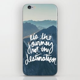 It's the journey not the destination forest camping nature print iPhone Skin