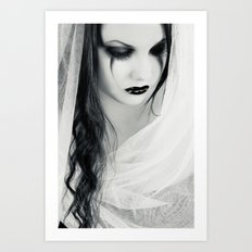 Lonely Pierrot Art Print