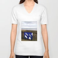 sharks V-neck T-shirts featuring sharks by Dasha&Sasha