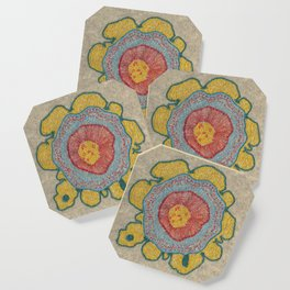 Growing - Pinus 1 - plant cell embroidery Coaster