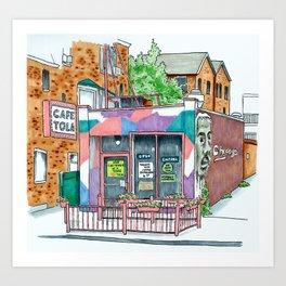 Cafe Tola Art Print