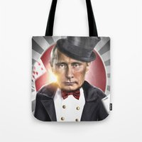putin Tote Bags featuring PUTIN  by NOXBIL