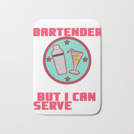 serve one Shots Party Alcohol trust me Bartender Beer Waiter Liquor Bistro Glass Tequila Bath Mat