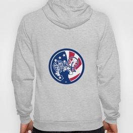 American Bike Mechanic USA Flag Mascot Hoody