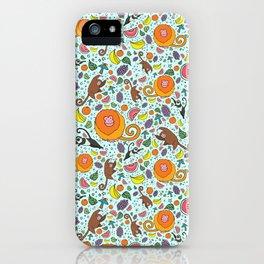 Cute Rainforest Pattern iPhone Case