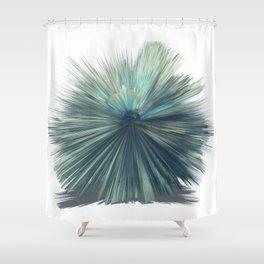 Green star Shower Curtain