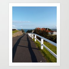 Walkway to Byron Bay, Australia Art Print