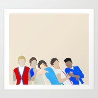 one direction Art Prints featuring One Direction by Natasha Ramon