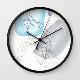 180805 Subtle Confidence 9| Colorful Abstract |Modern Watercolor Art Wall Clock