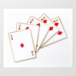 Flush Cards Art Print