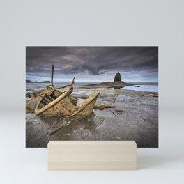 The wreck of the Admiral von Tromp on the rocks of Saltwick Bay, Mini Art Print