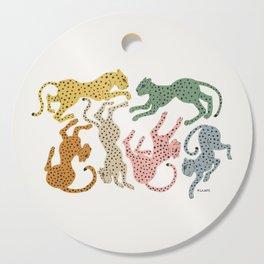 Rainbow Cheetah Cutting Board
